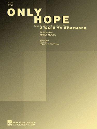 SheetMusic Only Hope - Mandy Moore (PVG) Hal Leonard
