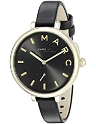 Marc Jacobs Womens Sally Black Leather Watch - MJ1416