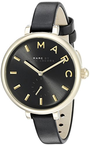 Marc Jacobs Women's Sally Black Leather Watch - - Marc Women Watches Black Jacobs
