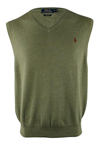 Polo Ralph Lauren Men's Pima Cotton V-Neck Vest X-Large Lovette (Ralph Lauren V-neck Sweater Vest)