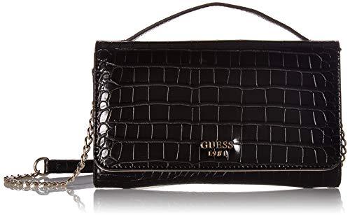 (GUESS Kamryn G-Shine Wallet On A String, black)