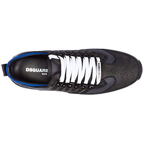 251 Zapatillas Zapatos Piel Dsquared2 Hombres Deporte En Negro De d7SwB