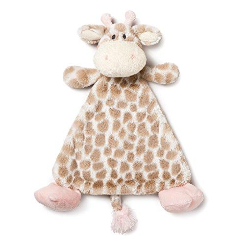 (DEMDACO Sadie Giraffe Pale Pink Children's Plush Rattle Blankie )