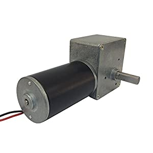 Bemonoc reversible 12v low speed 22 rpm right angle dc for Right angle dc motor