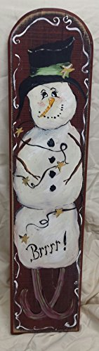 Wood Snowman Plaque - Snowman BRRRRRR Wood Plaque