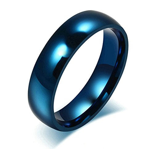 Stainless Steel 3 in 1 Ring Set (Silver/Blue) - 4