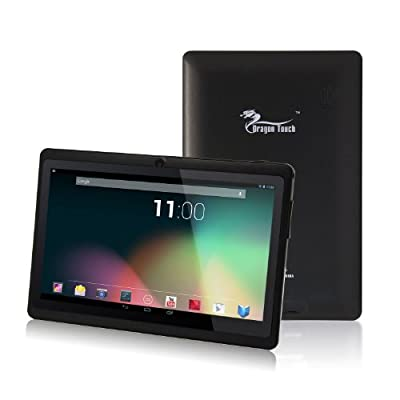 Dragon Touch 7'' inch Black Dual Core Y88 Google Android 4.3 Tablet PC, Dual Camera, HD 1024x600, Google Play Pre-load, HDMI, 3D Game Supported (enhanced version of A13) [By TabletExpress]