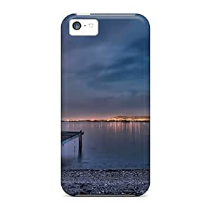 Iphone 5c Cases Bumper Covers For Moon Behind Clouds River Bank Accessories