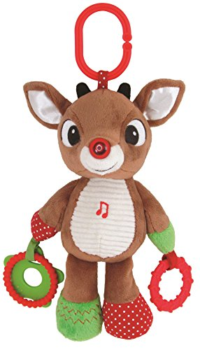 Kids Preferred Rudolph the Red-Nosed Reindeer, Rudolph On the Go Teether Developmental Activity Toy, (Santa's Reindeer Make This Noise)