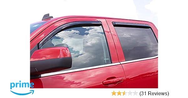 4-Piece Set for 2003-2008 Honda Pilot Auto Ventshade 194744 In-Channel Ventvisor Side Window Deflector
