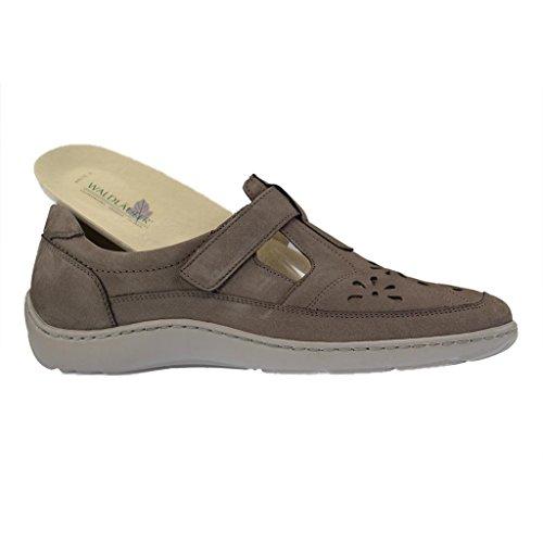Las señoras del deslizador 37,5 38 38,5 39 40 41 41,5 gris ancho zapatos H Waldläufer marrón