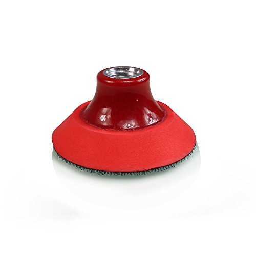 TORQ R5 Rotary Backing Plate with Hyper Flex Technology, Red (3 Inch)