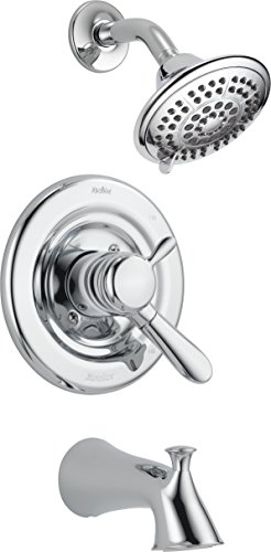 Delta Faucet T17438 Lahara Monitor 17 Series Tub and Shower Trim, Chrome Bathroom Shower Tub