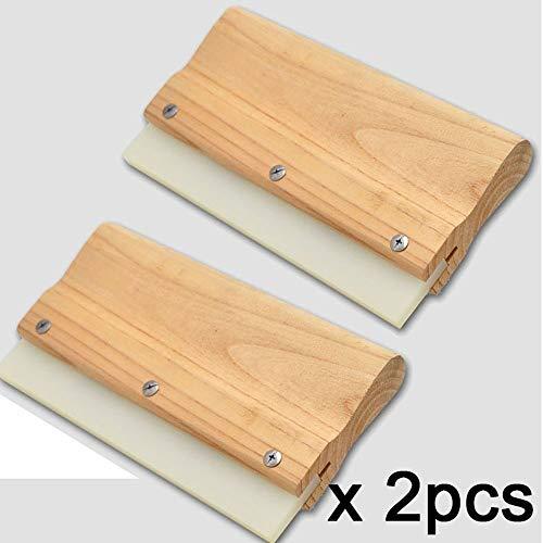 Wipers Hukcus 2PCS Professional Wool Handle Rubber Squeegee Window household floor vinyl film sticker floating fixing Tint Tools A76 - CN by Hukcus (Image #1)