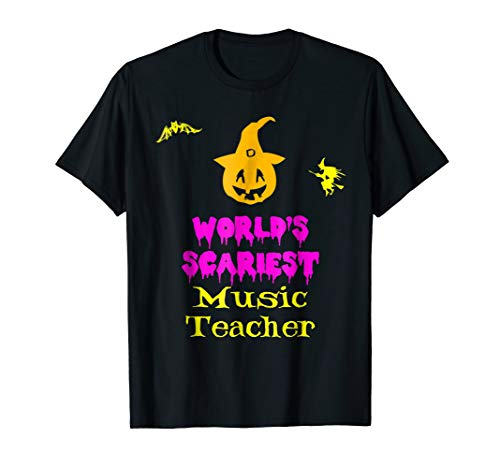 World's Scariest Music Teacher Halloween T-Shirt