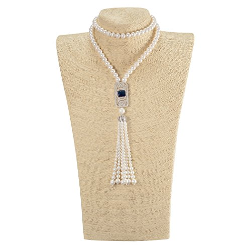 Romantic Time Womens Wedding Rhinestone White Shell Bead Necklace