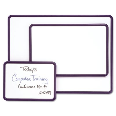 Contour Dry-Erase Board, Melamine, 48 x 36, White Surface, Black Frame, Sold as 1 Each