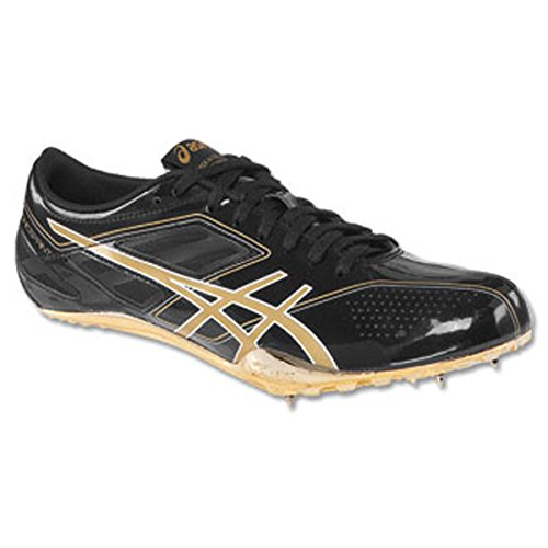 Asics Hombres Sonicsprint Track And Field Shoe Onyx / Metaric Gold