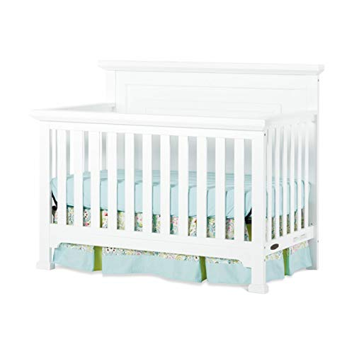 Child Craft F37901.46 6 x 43 x 61 in. Roland 4-in-1 Convertible Crib44; Matte White