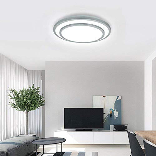 W-LITE 48W Dimmable Led Flush Mount Ceiling Light Lighting with Remote-20 Inch Close to Ceiling Lights Fixture for Bedroom/Living Room/Dining Room, 3000K-6000K Color Changeable by W-LITE (Image #6)