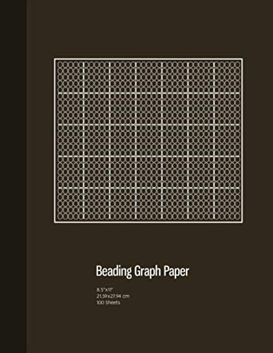 (Beading Graph Paper: Peyote Stitch Graph Paper , Seed Beading Grid Paper,  Beading on a Loom, 100 Sheets, Bronze Cover (8.5
