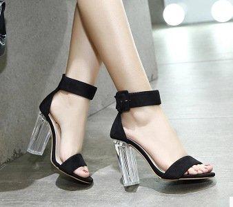 ZHUDJ Meine Damen_Sommer Toe Schuhe Mit Hohen Absätzen Kühl Und Komfortabel Hochhackigen Sandalen Forty
