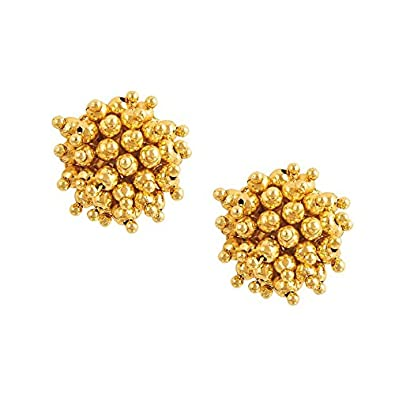 629b3e57f Buy Shining Jewel 22K Gold Plated Stud Earrings For Women Online at Low  Prices in India   Amazon Jewellery Store - Amazon.in
