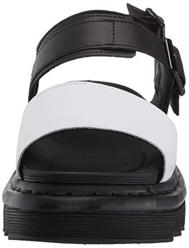 Sandali Dr Nero black Leather Sul Chiusura Donna Retro amp; Hydro Martens 009 Voss Con White qqprwxHEZT