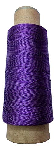 Desi Hawker 275+ Yards - Viscose Rayon Art Silk Thread Yarn - Embroidery Crochet Knitting Lace Jewelry Trim (Bright Purple)