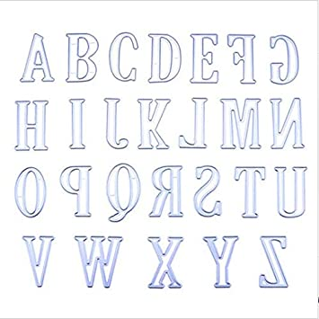 5CM Large Big Alphabet Letters Cutting Dies Stencils Metal for DIY Scrapbooking