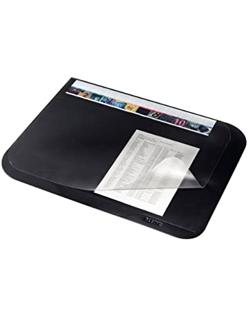 Leitz Plus Sous-Main avec Rabat Transparent, Noir, Dimensions   65 x 50 8a5ae3316fc8