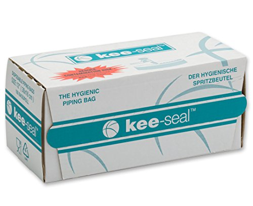 DecoPac Kee-Seal Disposable Pastry Bags, 12-Inch, Clear by DecoPac