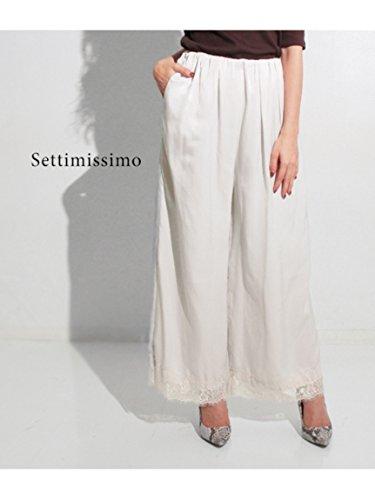 ANAP(アナップ)【Settimissimo】裾レースワイドパンツ
