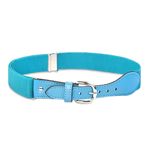 ble Strech Belt with Leather Closure - Teal ()