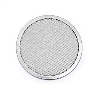 New Star Foodservice 50035 Pizza Baking Screen, Seamless, Commercial Grade, Aluminum, 14 inch, Pack of 12