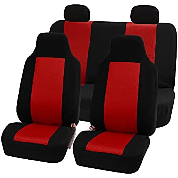 Full Set FH Group FB102RED114 Red 3D Air Mesh Auto Seat Cover