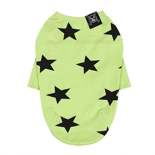 Puppy Angel Hunde T-Shirt Motiv Stern grün Größe M/L
