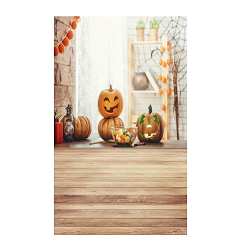 LEDMOMO 90x150cm Photo Background, 3D Halloween Pumpkin Photo Backdrop Children Baby Family Photo Background (DZ-813) -