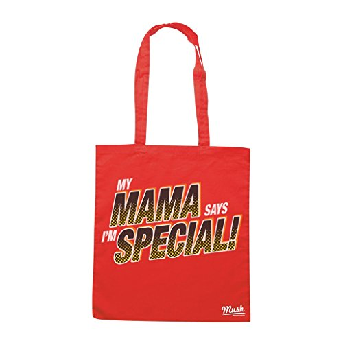 Borsa MY MAMA SAYS I M SPECIAL - Rossa - DIVERTENTE by Mush Dress Your Style