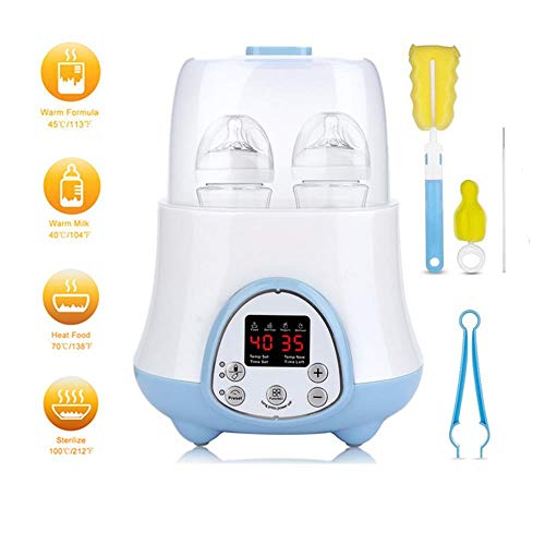 Bottle Warmer for Breastmilk 6-in-1 BPA Fast Baby Bottle Warmer and Sterilizer with Timer Formula Warmer,Baby Food,Defrost,Yogurt Maker,Reservation Function Real-time LCD Display and Precise Temperature Control New 2019