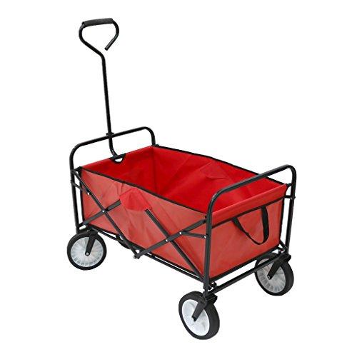 Oypla Heavy Duty Foldable Garden Trolley Folding Cart Wagon Truck...