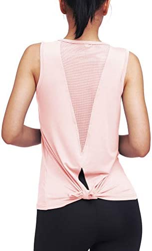 Mippo Womens Cute Workout Clothes Mesh Yoga Tops Exercise Gym Shirts Running Tank Tops 6