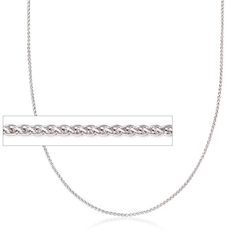 Ross-Simons Italian 1mm Sterling Silver Adjustable Slider Wheat Chain Necklace