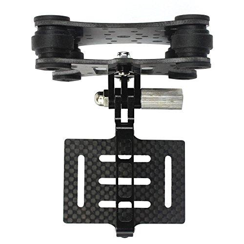 QWinOut FPV Carbon Fiber Camera Gimbal Mount for Phantom Quadcopter Multicopter Shock Absorber Damping PTZ for Hero 2 3 + 4