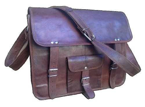 True Grit Leather in pelle, effetto rustico, 35,5 cm-Borsa Messenger per computer portatile