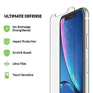 Belkin ScreenForce TemperedGlass Screen Protection for iPhone XR – iPhone XR Screen Protector
