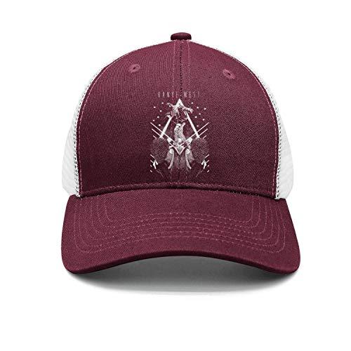RaMSports Printing Baseball Cap Fashion Maroon Yeezus-Tour-Music- Baseball Caps