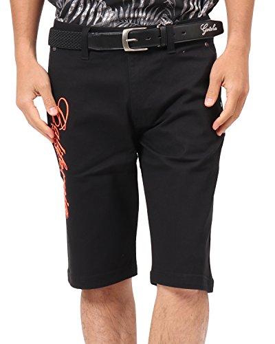 [ガッチャ ゴルフ] GOTCHA GOLF パンツ 接触冷感 ストレッチ ネオン使い ショーツ 182GG1903 ブラック Mサイズ