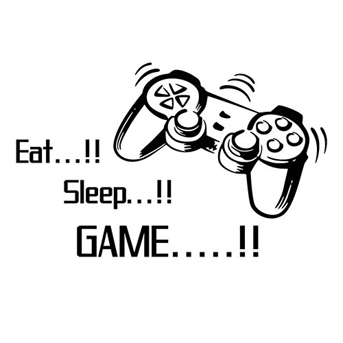 Beauty Clubs Eat Sleep Game Vinyl Wall Stickers For Boys Bedroom Home Decoration
