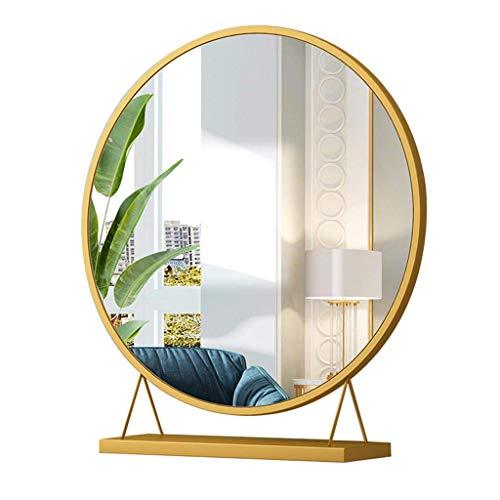 Household necessities / Vestir maquillaje Espejo Espejo de escritorio de alta definicion de los hogares redondo simple espejo de la manera de escritorio tocador espejo de maquillaje Ronda espejo del p